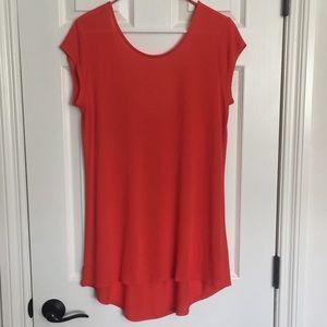 Zara Orange tunic sz L